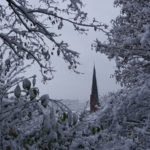 Schnee in der Altstadt von Lauenburg