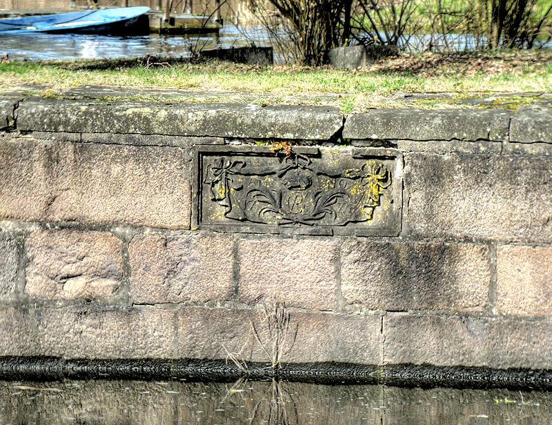 Wappen an der Palmschleuse in Lauenburg