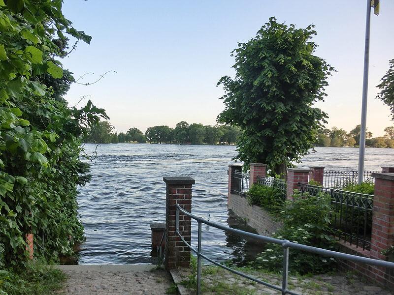 Hochwasser an der Zündholzfabrik