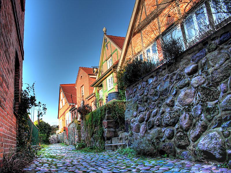 Die Hunnenburg in der Altstadt von Lauenburg