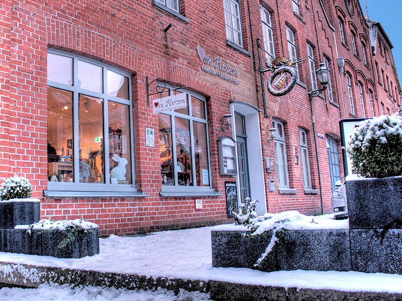 Cafe von Herzen in der Altstadt von Lauenburg