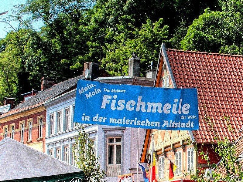 Fischmeile in Lauenburg