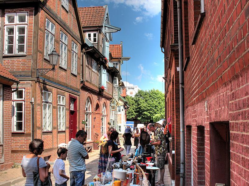 Flohmarkt in der Lauenburger Altstadt