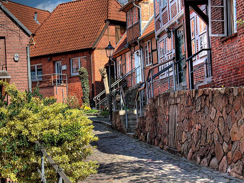 Hohler Weg in der Altstadt von Lauenburg/Elbe