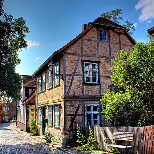 Fachwerkhaus in der Elbstraße in Lauenburg