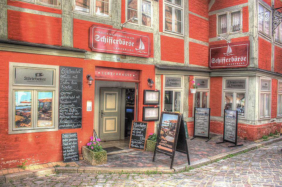 Eingang des Restaurant Schifferbörse