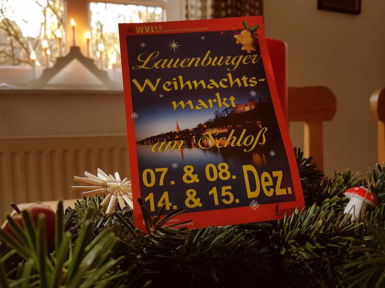 Plakat Weihnachtsmarkt 2019 in Lauenburg