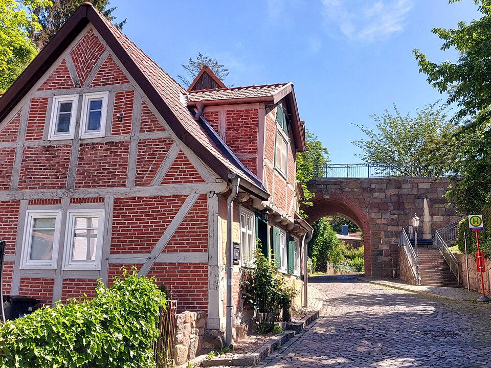 Fachwerkhaus in der Altstadt von Lauenburg