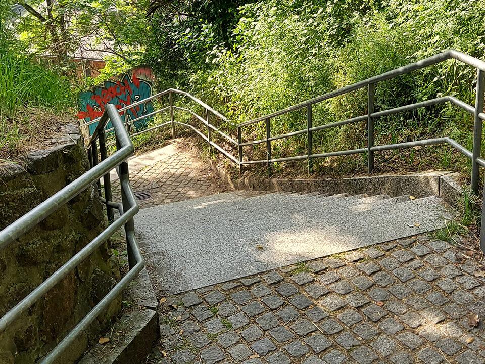 Die Fährtreppe in Lauenburg