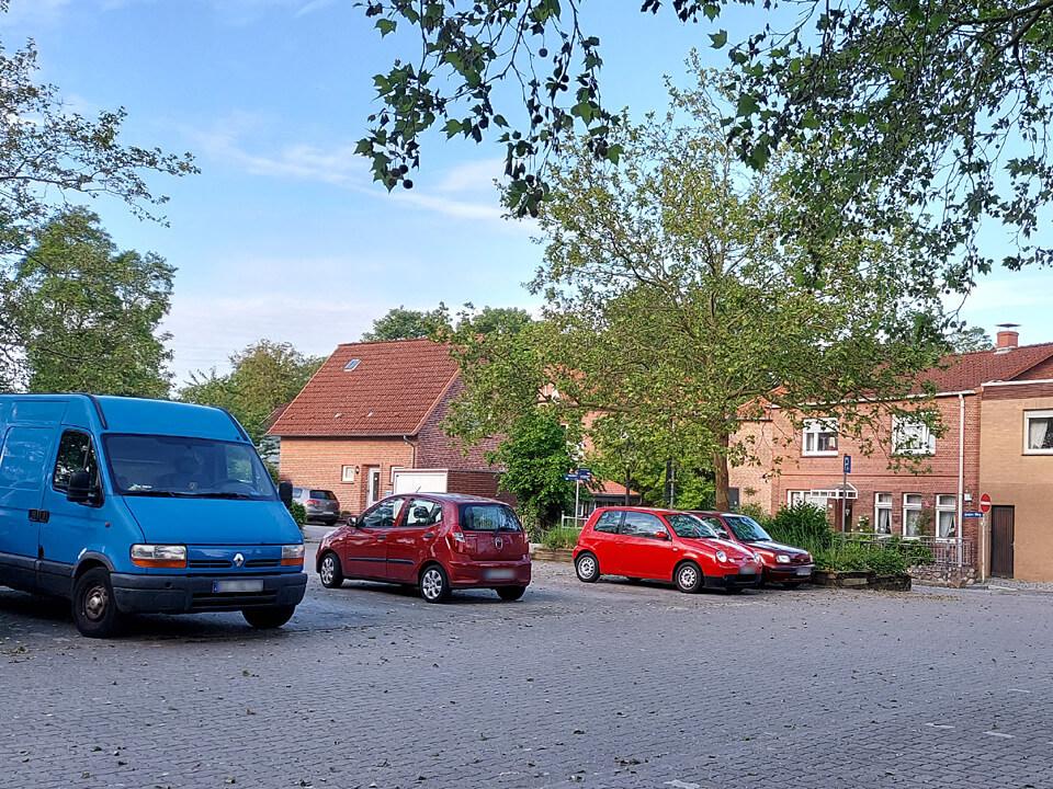 Parkplatz Fürstengarten in Lauenburg