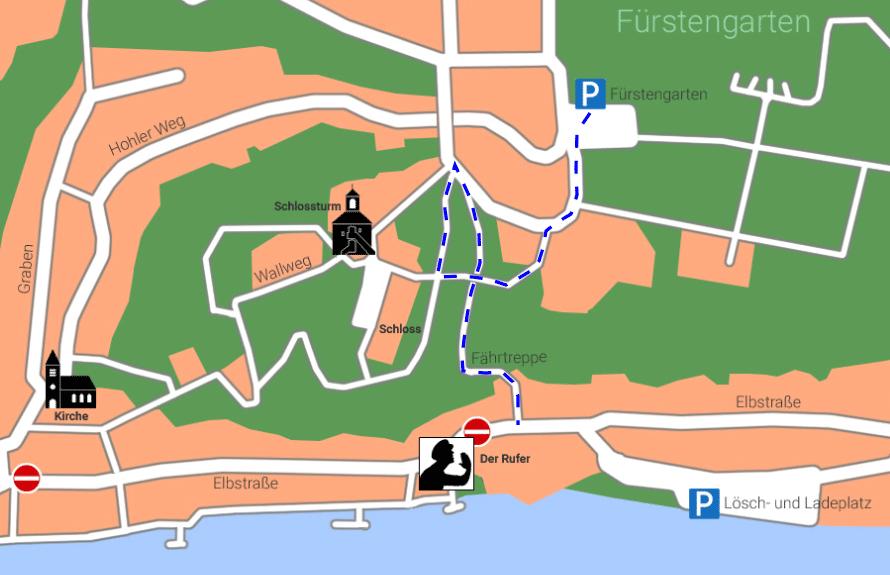 """Lauenburgkarte """"Fährtreppe"""""""