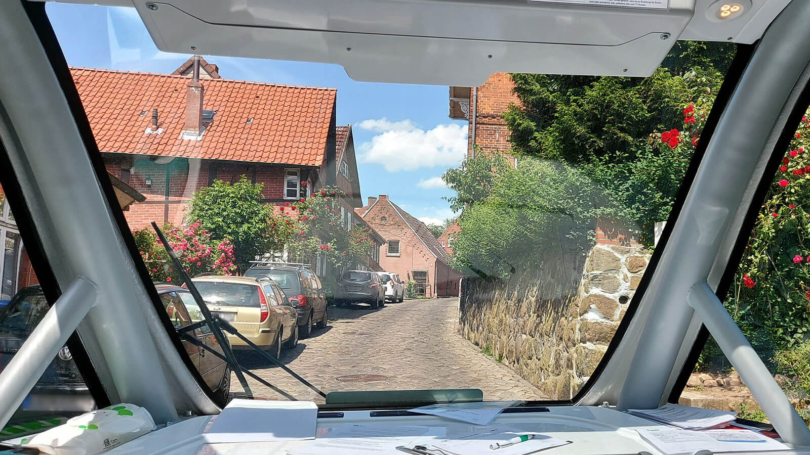 Blick aus dem TaBuLa-Shuttle in Lauenburg.